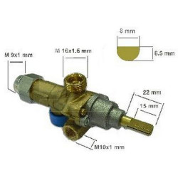 LOT DE 3 ROBINETS GAZ PEL 21S TC M9X1 GVD11158