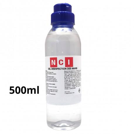 GEL HYDRO ALCOOLIQUE FOR DESINFECTION DES MAINS FLACON 0.5L - IQ9708