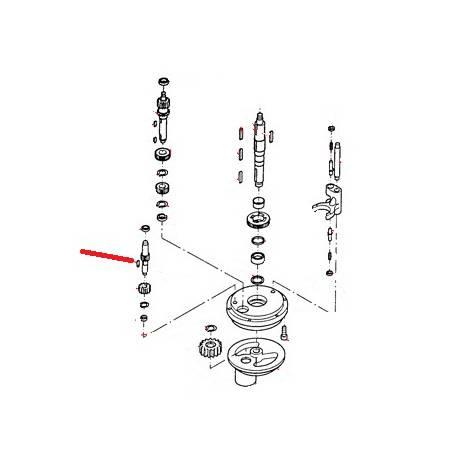 GOUPILLE POUR ARBRE ENGRENAGE ORIGINE THUNDERBIRD - GUQ6512