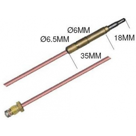 THERMOCOUPLE SIT M9X1 LISSE L:320MM - TNQ626