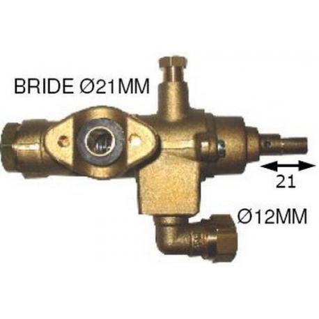 ROBINET GAZ FIXATION A BRIDE TUBE DIAM 20MM RAC TC M9X1 SORT - TNQ878
