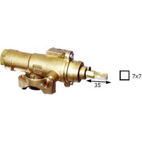 ROBINET GAZ RAC TC M9X1 TIGE 25MM AXE 7X7 SORTIE 1/2F - TNQ873