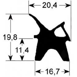 JOINT DE PORTE 625X730MM