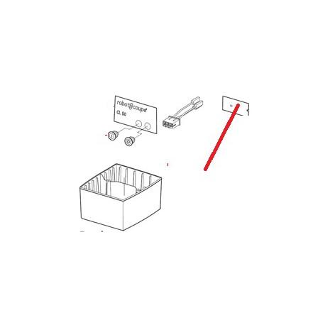PLAQ FRONT CL50D ORIGINE ROBOT COUPE - EBOB8263