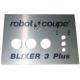 PLAQUE FRONTALE BLIXER 3+ ORIGINE ROBOT COUPE - EBOB8111