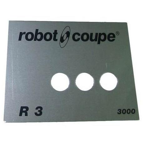 PLAQUE FRONTALE R3B 3000T ORIGINE ROBOT COUPE - EBOB8146