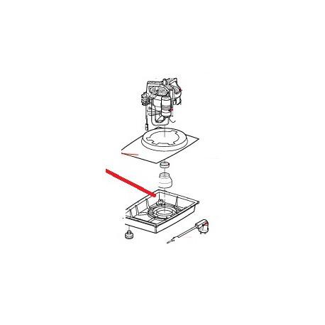 TAMPON CAOUTCHOUC 35X9 ORIGINE ROBOT COUPE - EBOB8711