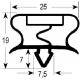 SEYQ6638-JOINT DE PORTE POUR TABLE REFRIGEREE TRS37/57 L:405MM L:590M