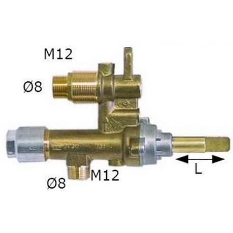 ROBINET GAZ MADEC ENTREE/SORIE M12X1 RAC TC M8X1 - TIQ6189