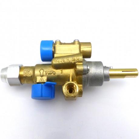 ROBINET GAZ PEL 22/O AVEC BRIDE HORIZONTALE RAC TC M8X1 - TIQ6198 - 2