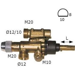 ROBINET GAZ PEL 22S AXE:L25MM 8X10MM RAC THERMOCOUPLE M9X1