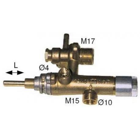 ROBINET GAZ EGA 26440 L=30MM - TIQ6130
