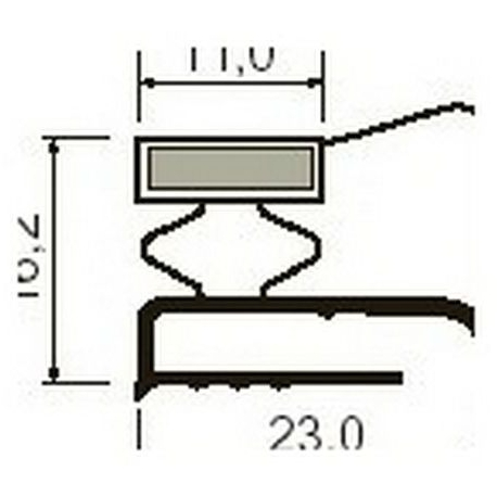 JOINT PLAT BLANC AIMANTE PAR - TIQ63980