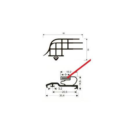 JOINT PVC A CLIPSER AVEC BANDE - TIQ63254