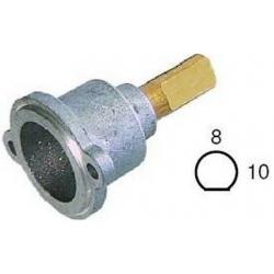 TETE DE ROBINET GAZ 23S L26MM AXE - 10X8MM