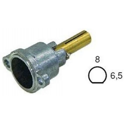 TETE DE ROBINET GAZ PEL21/S 8X6.5MM HORIZONTAL