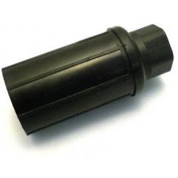 PIED COMPOSITE TUBE ROND NOIR REGL. 27MM 90KG H:35MM Ø45MM