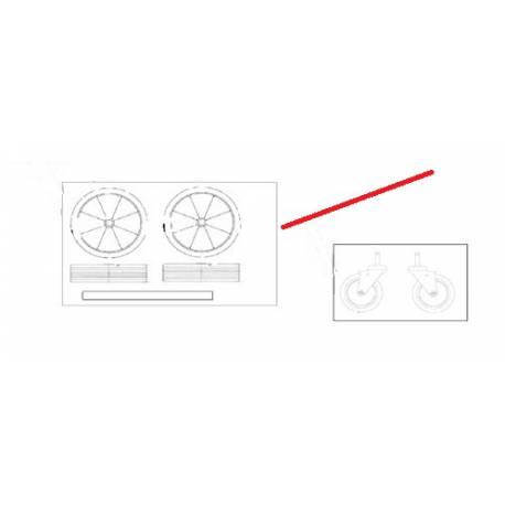 ROUES ARRIERES CHARIOT GWD350 ORIGINE NILFISK - AVQ8081