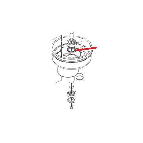 ECROU BORGNE M10 LAIT J X5 ORIGINE DITO SAMA-ELECTROLUX - QFQ5Q5039