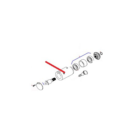 VIS F M4X10 INOX K55 J X10 ORIGINE DITO SAMA-ELECTROLUX - QFQ5Q5198