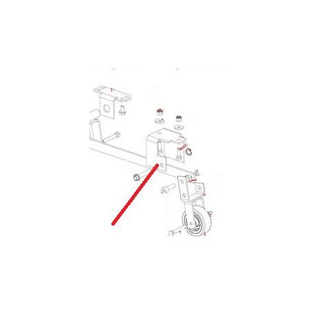 ECROU FREIN M6 B40 J X10 ORIGINE DITO SAMA-ELECTROLUX - QFQ5Q6104