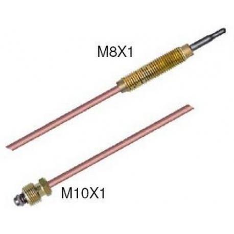TIQ7589-THERMOCOUPLE M10X1 / FILET M8X1 L:750MM