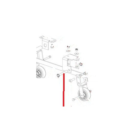 AXE ARRIERE XB40 ORIGINE DITO SAMA-ELECTROLUX - QFQ5Q0842