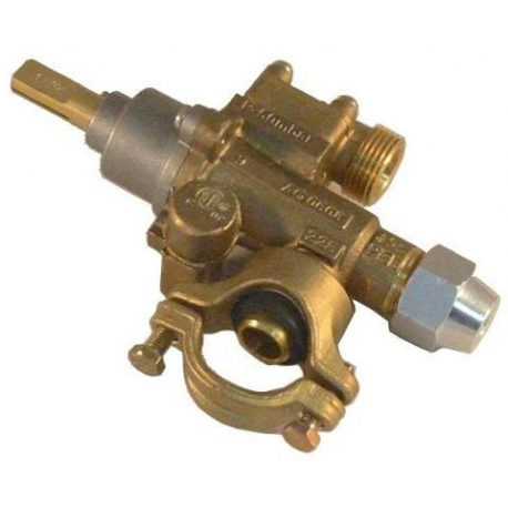 ROBINET GAZ PEL 22/S AVEC COLLIER RAC TC M9X1 - TIQ6191