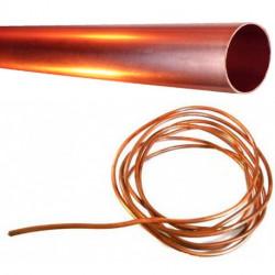 TUBE DE CUIVRE L:1000MM Ø4MM L:1000MM Ø4MM CUIVRE ORIGINE