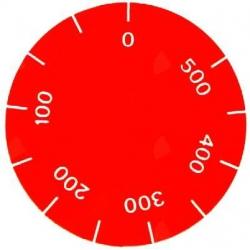 SYMBOLE POUR MANETTE 500° í42MM ROUGE - TIQ75133