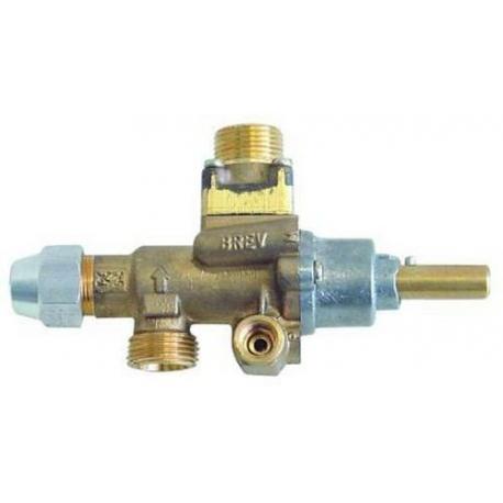 ROBINET GAZ PEL 22S/V AVEC BRIDE VERTICALE RAC TC M9X1 - TIQ76697