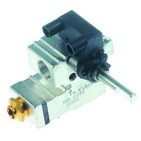 ROBINET GAZ POUR FOURNEAU 601 AVEC MICRO INTERRUPTEUR RAC TC - TIQ76610