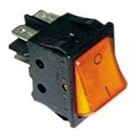 POUSSOIR 2 POLES LUMINEUX 250V 16A L:30MM H:22MM ORANGE 4PLO - TIQ665576