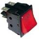 POUSSOIR ROUGE 2 POLES LUMINEUX 0-I 250V 16A - TIQ665577