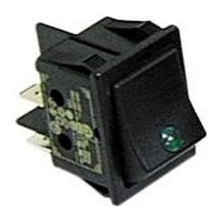 TIQ665579-INTERRUPTEUR LAMPE VERTE 2 PLS