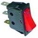 INTERRUPTEUR 30X11MM ROUGE 1 POLE LUMINEUX 250V 16A - TIQ665582