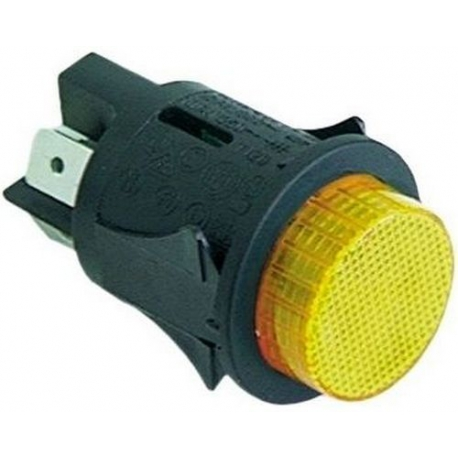 INTERRUPTEUR M/A LUMINEUX 250V 16A í25MM ORANGE - TIQ665596