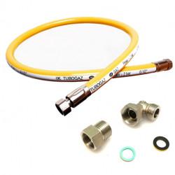 FLEXIBLE GAZ TUBOGAZ NATUREL/PROPANE NF D36-123 EMBOUT INOX