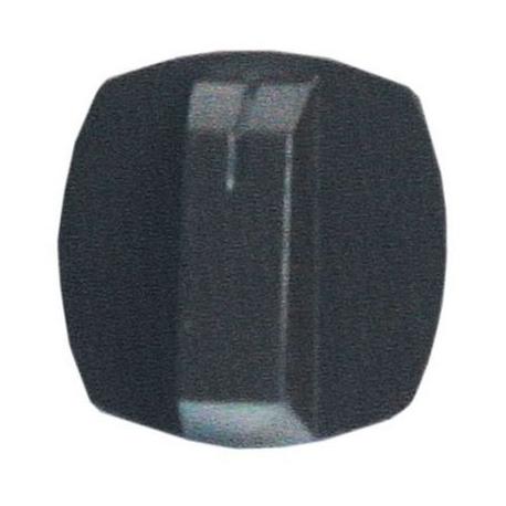 TIQ77333-MANETTE POINT REPERE 38X38MM BRUNE AXE:Ø6X4.8MM A PLAT BAS