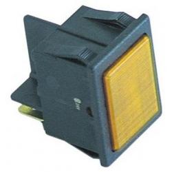 VOYANT 30X22MM COSSES 6.3MM 24V ORANGE