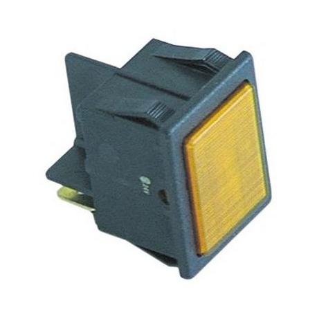 TIQ66365-VOYANT 30X22MM COSSES 6.3MM 24V ORANGE
