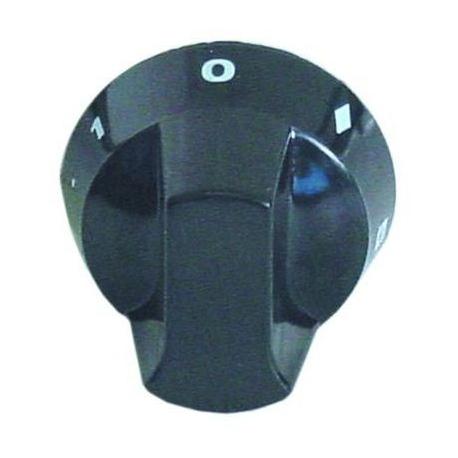 TIQ78533-MANETTE DOSEUR D'ENERGIE D50MM NOIRE AXE:Ø6X4.6MM A PLAT BAS