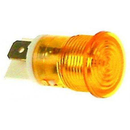 TIQ78633-VOYANT ORANGE 230V í16 COSSES 6.3MM MM TMAXI 120°C
