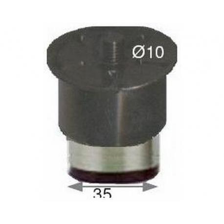 PBQ953617-LOT DE 4 PIEDS ALU D60X H73MM ORIGINE