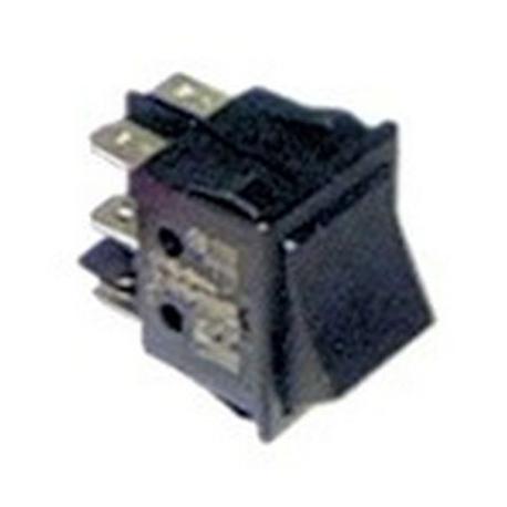 RKQ25-INTERRUPTEUR 30X22MM 2 POLES NOIR 0-1 250V 10A