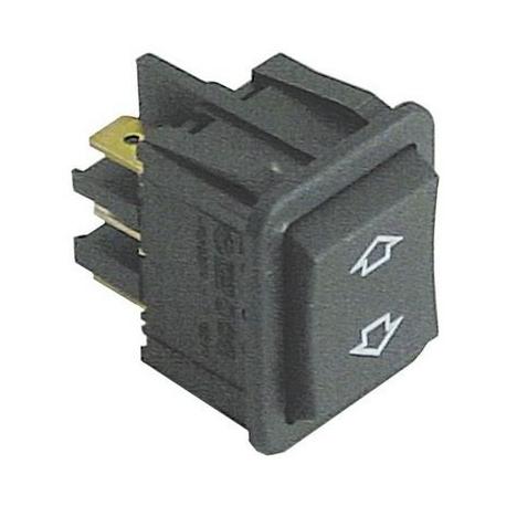 TIQ78056-POUSSOIR 30X22MM AVEC CAPOT 250V 16A NOIR TMAXI 120°C ORIGIN