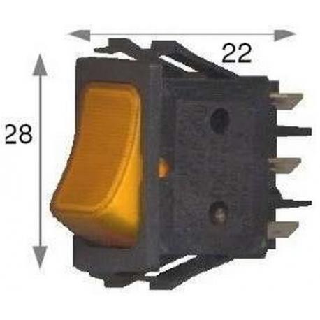 SQ6863-INTERRUPTEUR 4 PLOTS 0/I ROUGE