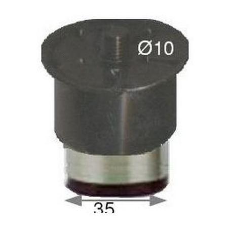 ERQ242-PIED REGLABLE EN 10MM EN INOX