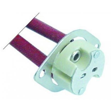 TIQ79505-DOUILLE LAMPE DE FOUR 24V G6.35 L:280MM H:10MM í16MM