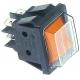 TIQ79845-INTERRUPTEUR 30X22MM JAUNE LUMINEUX +CAPOT 2 POLES 250V 16A